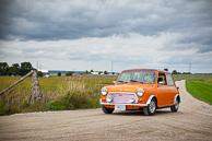 """1969 orange Austin Mini """"Cooper"""" with 1275cc engine."""